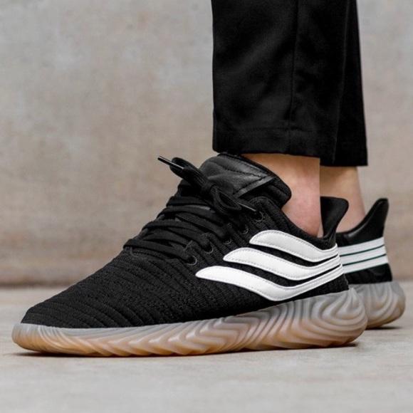 dd5c9bed644a59 Adidas Originals Sobakov Shoes Black White Gum 8.5